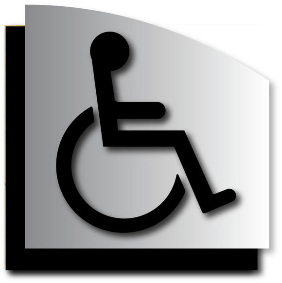 BAL-1126 Wheelchair Symbol ADA Sign in Black