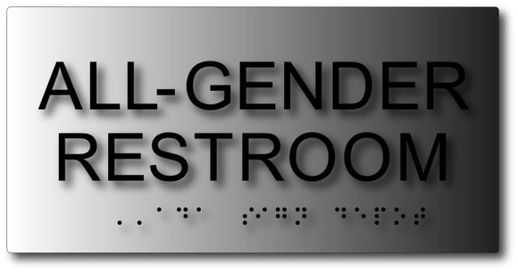 BAL-1174 All Gender Restroom AB-1732 ADA Sign in Black