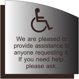 "Wheelchair Customer Assistance Sign - 8.5"" x 8.5"" thumbnail"