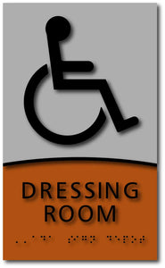 Modern Design Dressing and Fitting Room ADA Signs with Braille