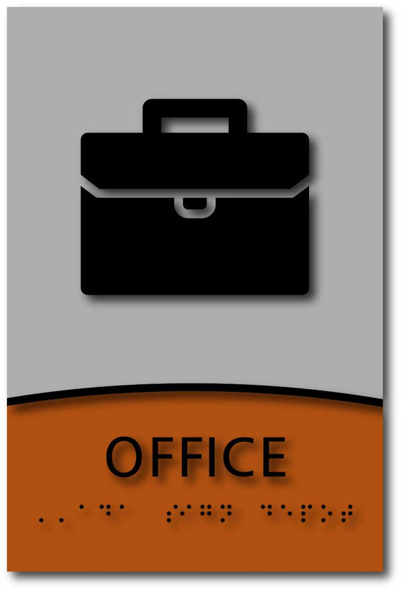 Modern Design ADA Compliant Office Room Name Sign