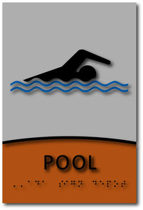 Modern Design ADA Compliant Swimming Pool Signs