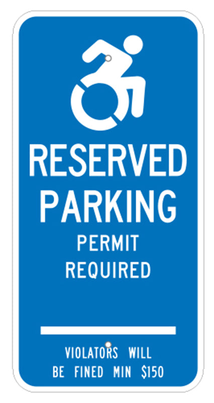 PAR-1030 Connecticut Handicap Parking Sign Permit Required