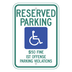 PAR-1028 Alabama State Handicapped Parking Sign