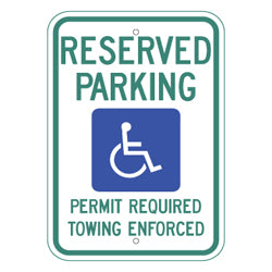 PAR-1029 Arkansas State Handicapped Parking Sign