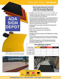 Flexible Urethane ADA Truncated Domes Pad -  2' x 3' - Surface Applied thumbnail