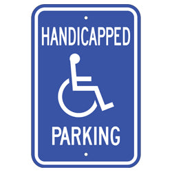 "PAR-1112 Handicapped Parking Signs with Wheelchair Symbol - 12"" x 18"""