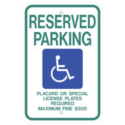 PAR-1035 Hawaii State Handicapped Parking Sign - Reflective Parking Signs