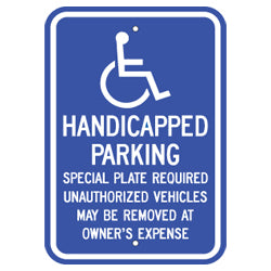 PAR-1036 Massachusetts State Handicapped Parking Sign