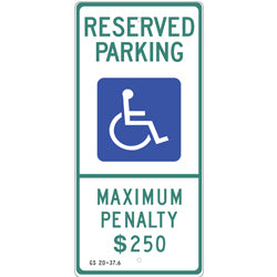 PAR-1041 North Carolina State Handicapped Parking Sign