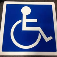 SST-1000 Wheelchair Symbol for Handicap Parking Parking Spaces