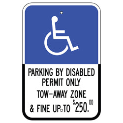 PAR-1033 South Florida State Handicap Parking Sign - Reflective Parking Signs