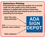 "ADA Wheelchair Symbol Label for Tables - 4"" x 4"" thumbnail"