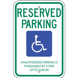 PAR-1045 Tennessee State Handicapped Parking Sign