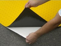 SST-1007 1' x 1' Self-Adhesive Truncated Domes for Installing on Concrete or Asphalt Surfaces