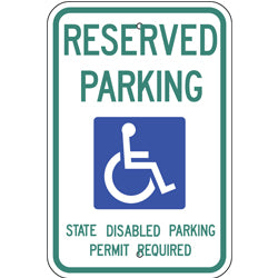PAR-1047 Official Washington State Handicapped Parking Sign