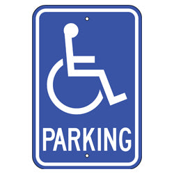 PAR-1108 Wheelchair Symbol Handicap Parking Signs