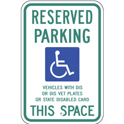 PAR-1048 Wisconsin State Handicapped Parking Sign