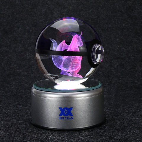3D Pokemon Crystal Ball LED