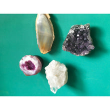 Crystal and Gemstone Magnets - Geode - Quartz - Amethyst - Agate - Set of 4 - Healing Crystals
