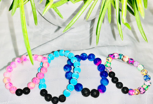 Bright Colored Lava Stone Bracelets