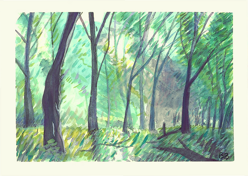 Forest of secret colour (original painting)