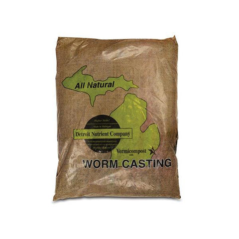 Detroit Nutrient Company Worm Castings Organic Vermicompost Bag