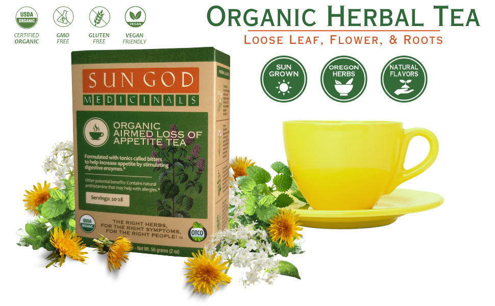 Airmed Loss of Appetite Organic Herbal Tea