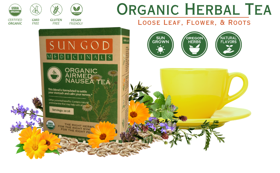 Airmed Nausea Organic Herbal Tea