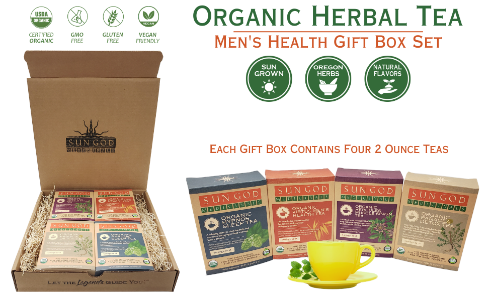 Men's Health Organic Herbal Tea Gift Box