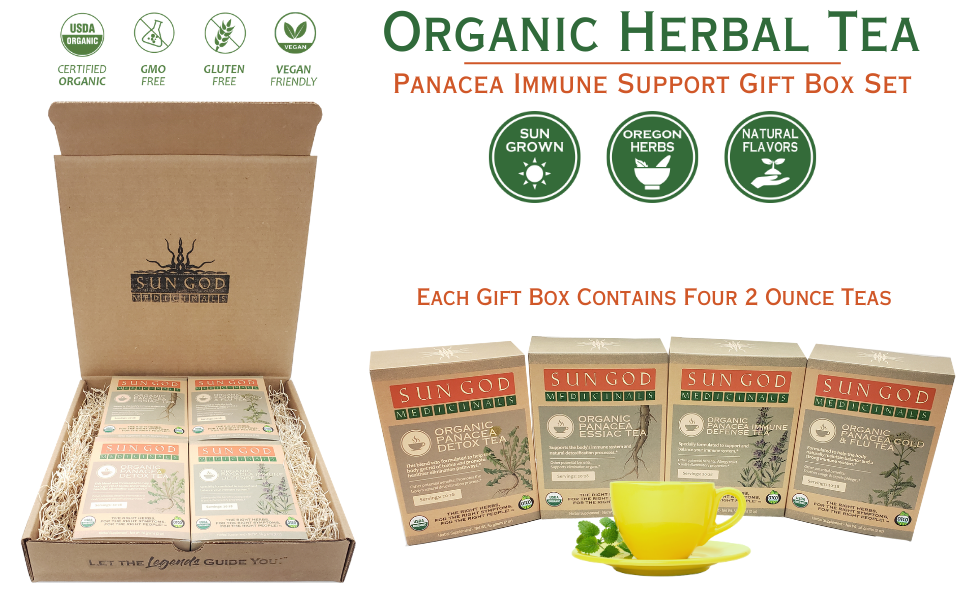 Panacea Immune Support Organic Herbal Tea Gift Box