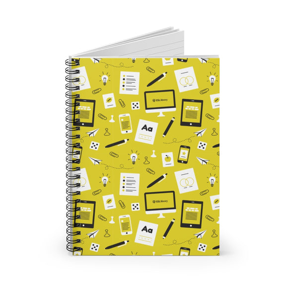 Yellow Pattern Spiral Notebook