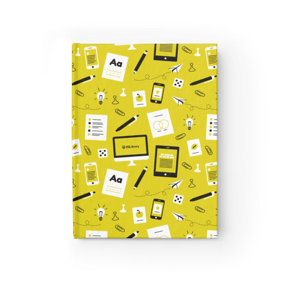 Yellow Pattern Hardcover Notebook