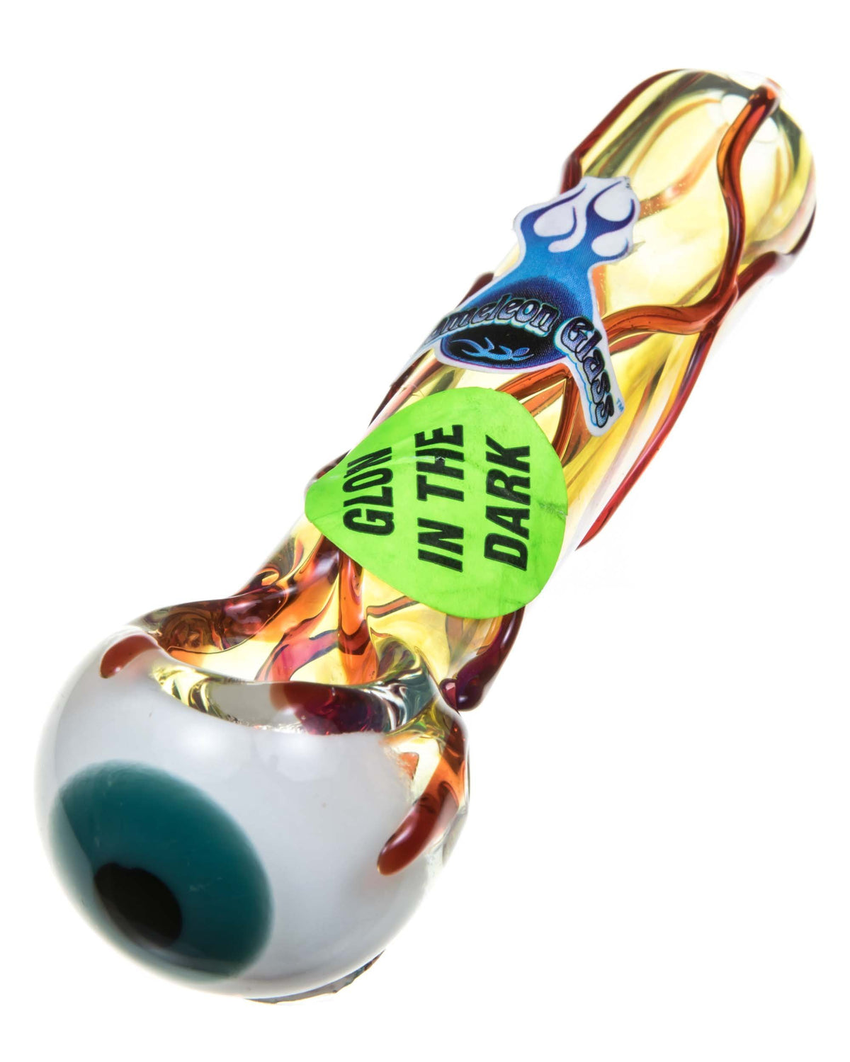 Glow In The Dark Eyeball Hand Pipe