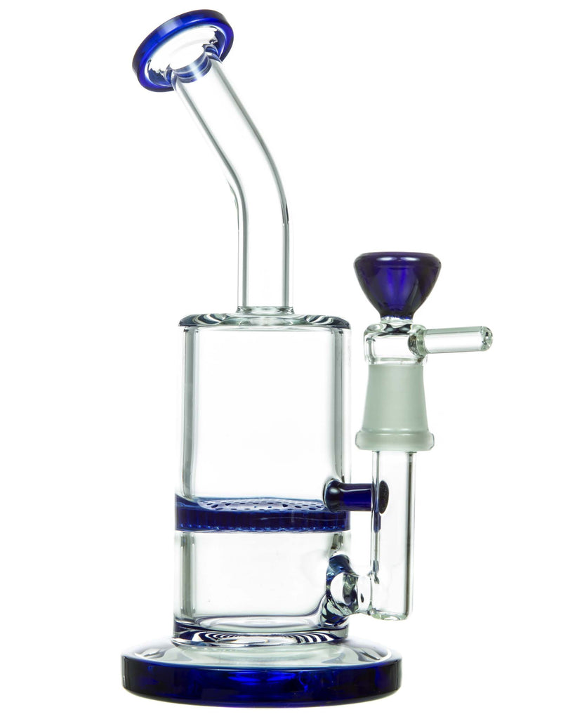 Mini Bent Neck Honeycomb Perc Water Pipe