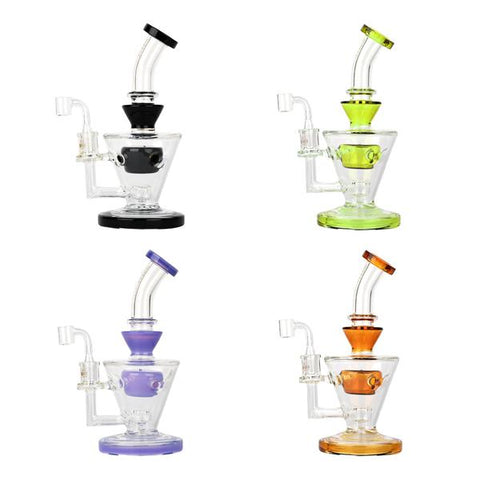 "GEAR Premium 10"" Swiss Cone Pillar Concentrate Rig"