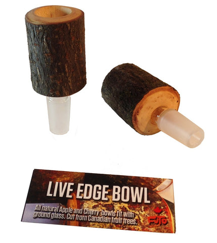 Futo Live Edge Applewood & Cherrywood Bowl 14mm