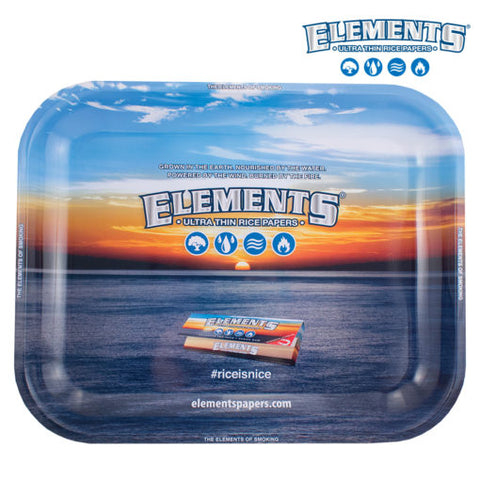 ELEMENTS BLUE METAL ROLLING TRAY