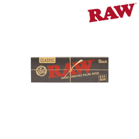 Raw Black Papers 1 1/4 Box