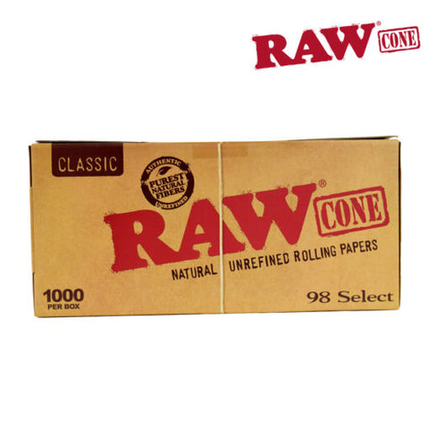 RAW PRE-ROLLED CLASSIC CONE 98 SELECT – 1000/BOX