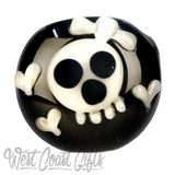 Red Eye Glass Black Skull Hand Pipe
