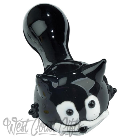 Red Eye Glass Kitty The Cat Hand Pipe