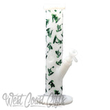 "Red Eye Glass 12"" Tall Army Men Straight Tube W/Full Wrap Decal"