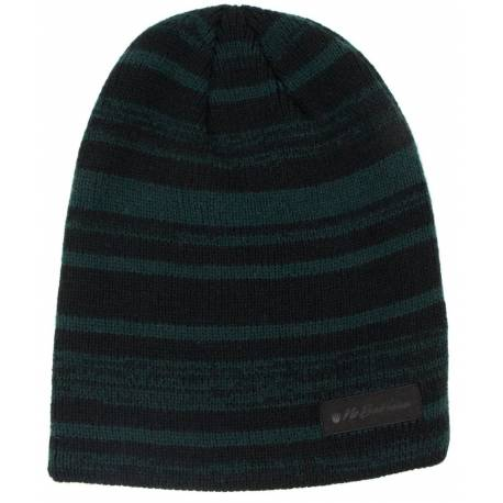 View larger No Bad Ideas Knit - Hawk - Knit Striped Beanie - Black and Green