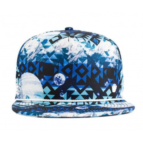 No Bad Ideas - Zion - Blue & Black Color Print Snapback