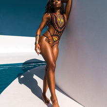 DOPE ONE PIECE TRIBAL LUXE SWIM SUIT