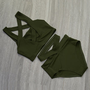 MIKA PUSH UP HIGH WAIST SWIM SUIT