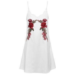 'EMPRESS' EMBROIDERED CHIFFON DRESS
