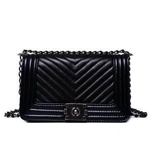 DIAGONAL CHAIN LUXE HANDBAG