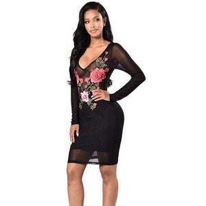 'ULTIMATUM' FLORAL MESH LUXURY DRESS